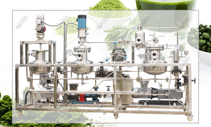 Chlorophyll extraction machine for getting chlorophyllin