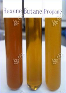 different rice bran oil by different solvents
