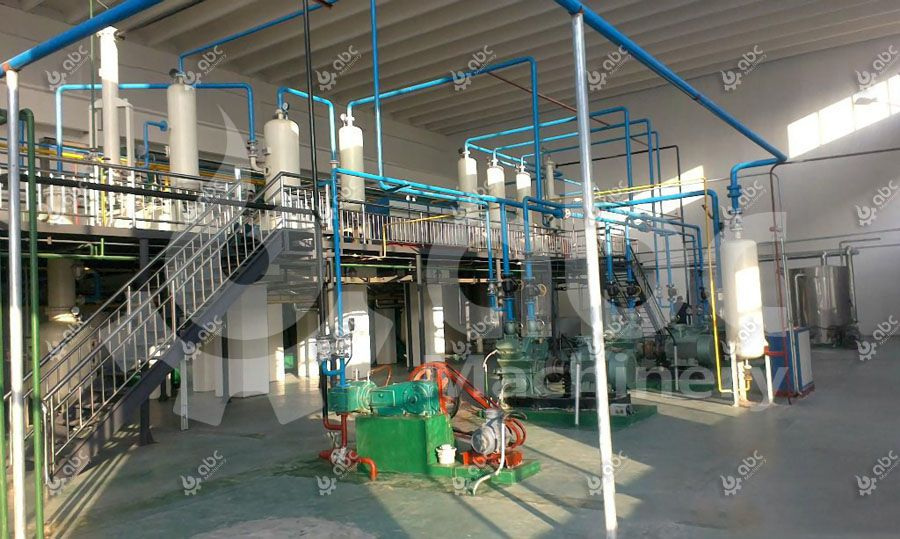 linseed oil extraction plant for processing flax seeds