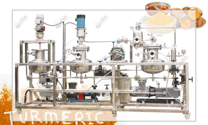 turmeric extraction machine for making high quality pigment extract